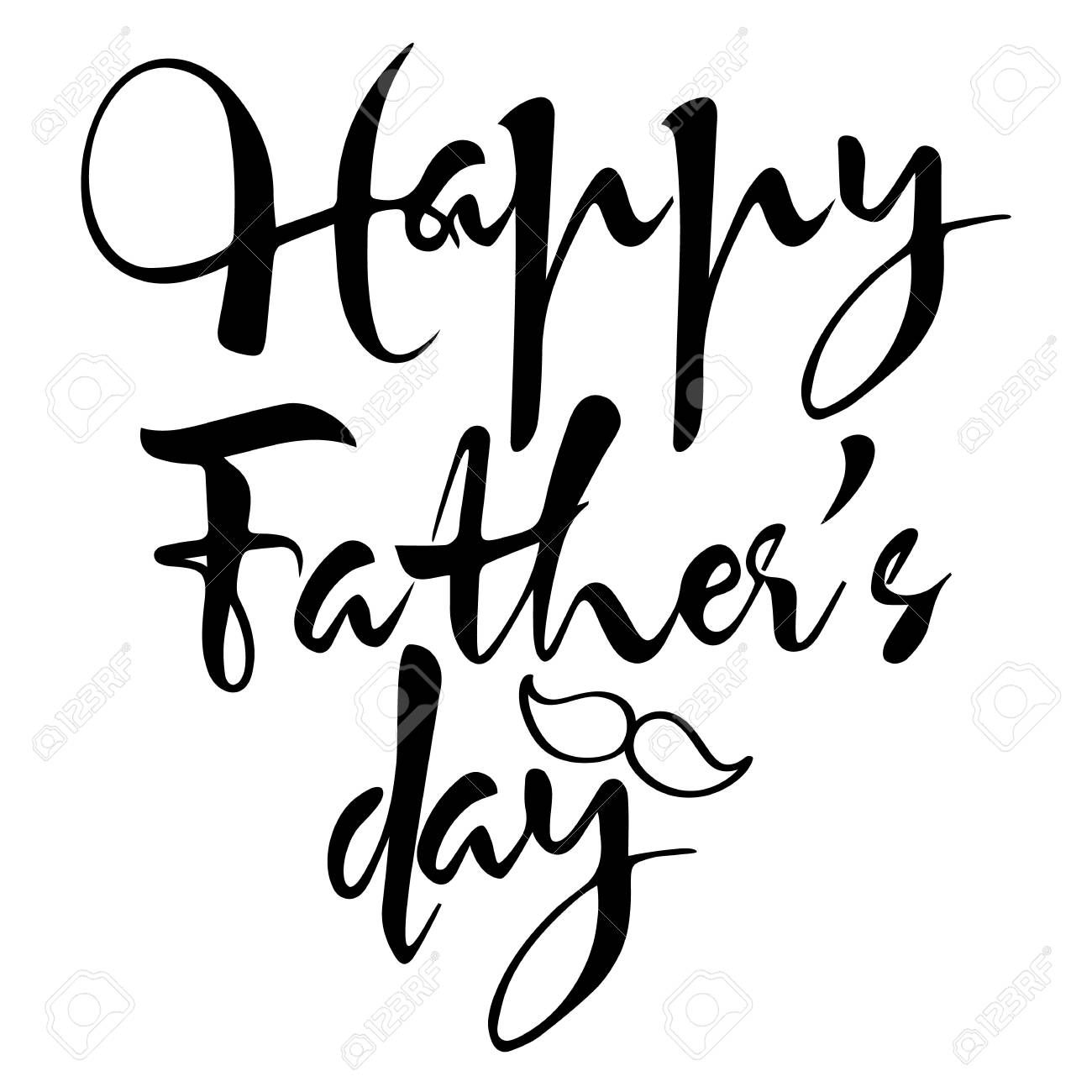 black and white vector composition happy father s day drawn rh 123rf com black and white vector art of famous people black and white christmas vector art