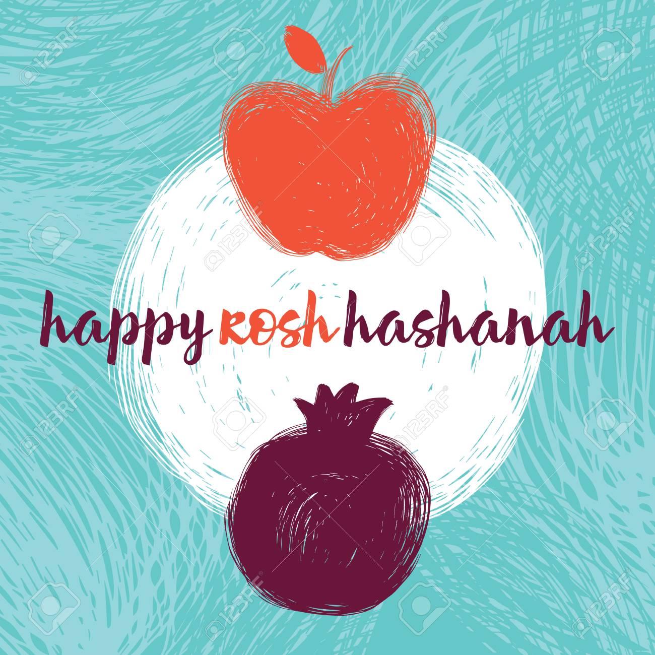 Greeting card wiyh symbol of rosh hashanah pomegranate and apple greeting card wiyh symbol of rosh hashanah pomegranate and apple jewish new year m4hsunfo