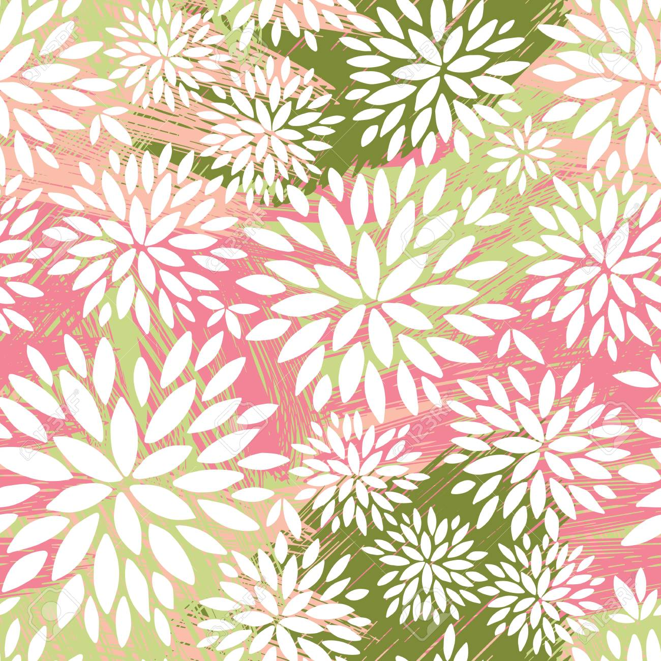 Seamless Ornamental Floral Pattern Decorative Cute Background
