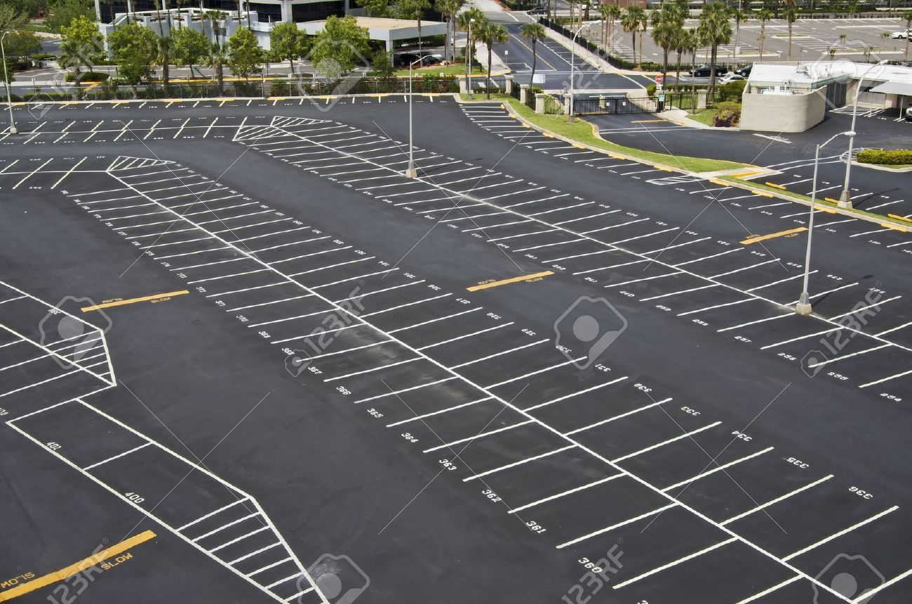 large numbered space parking lot from above Stock Photo - 4906925