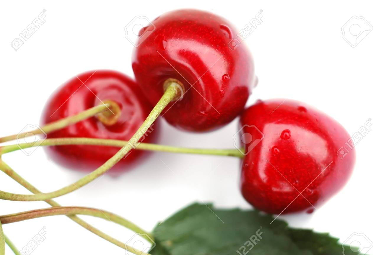 Cherries on the white background Stock Photo - 5992470