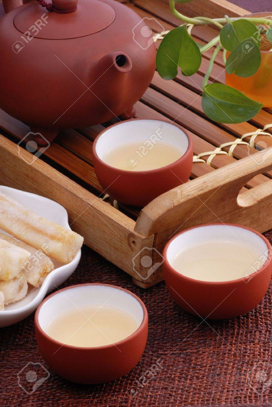Close-up of traditional Chinese tea Stock Photo - 8094227