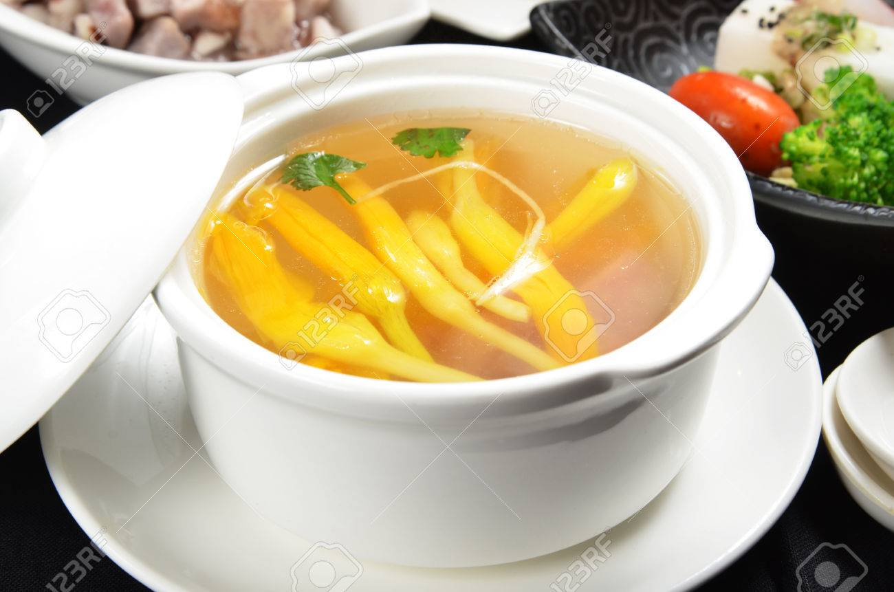 Lily flower and sparerib soup a popular taiwan food stock photo lily flower and sparerib soup a popular taiwan food stock photo 23840739 izmirmasajfo