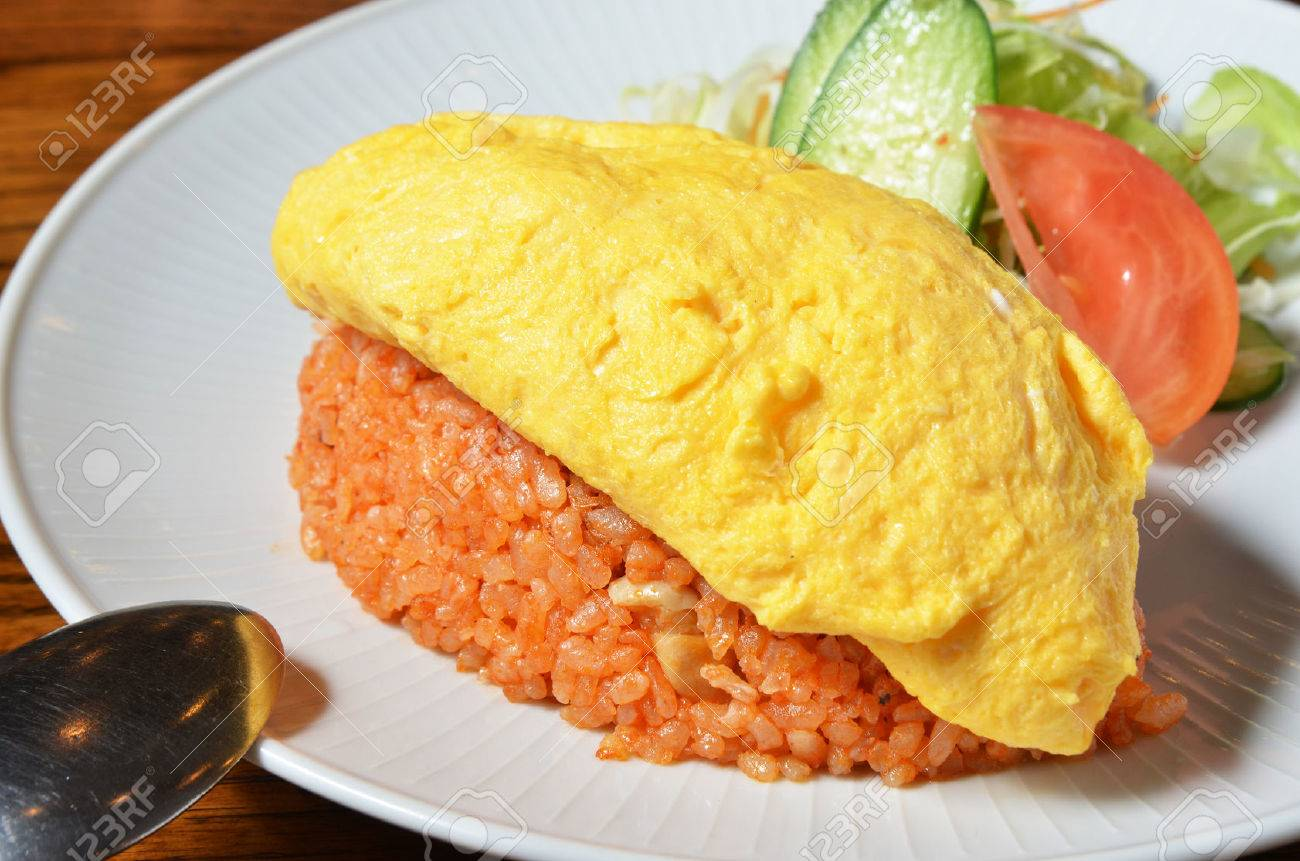 Japanese Food Omurice Rice Warpped Egg Stock Photo Picture And Royalty Free Image Image 31908097