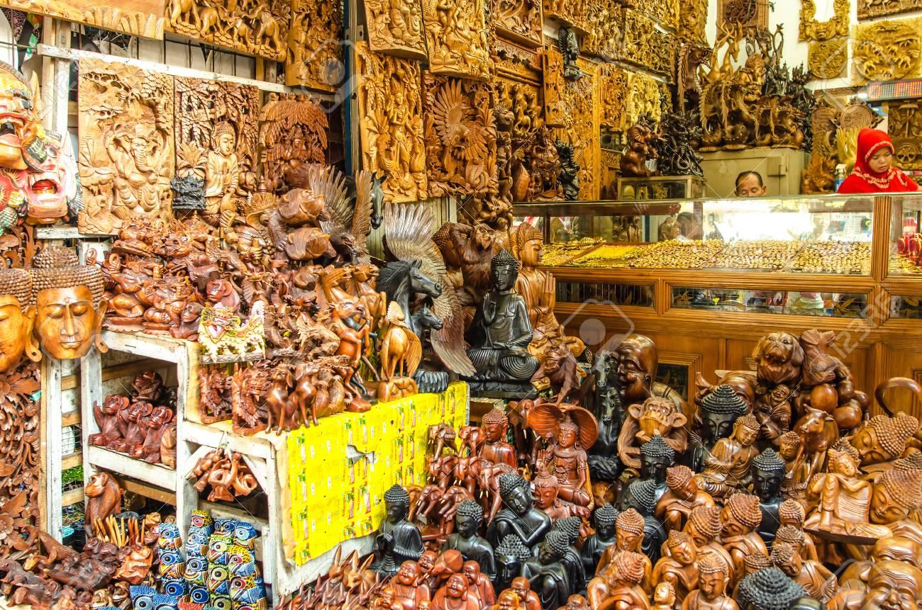 Typical Souvenir Shop Selling Souvenirs And Handicrafts Of Bali
