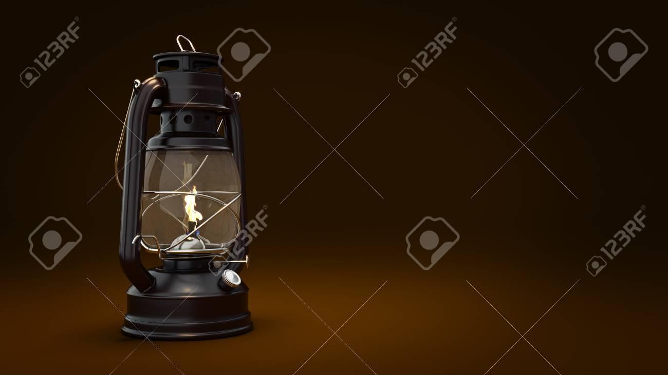 Burning kerosene l& background lighting concept. 3d rendering Stock Photo - 65607504 & Burning Kerosene Lamp Background Lighting Concept. 3d Rendering ...