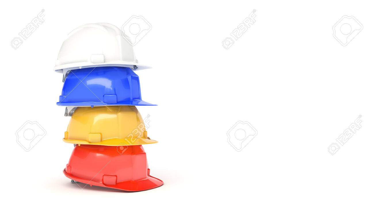 662403ba966 Stock Photo - Various hard hats