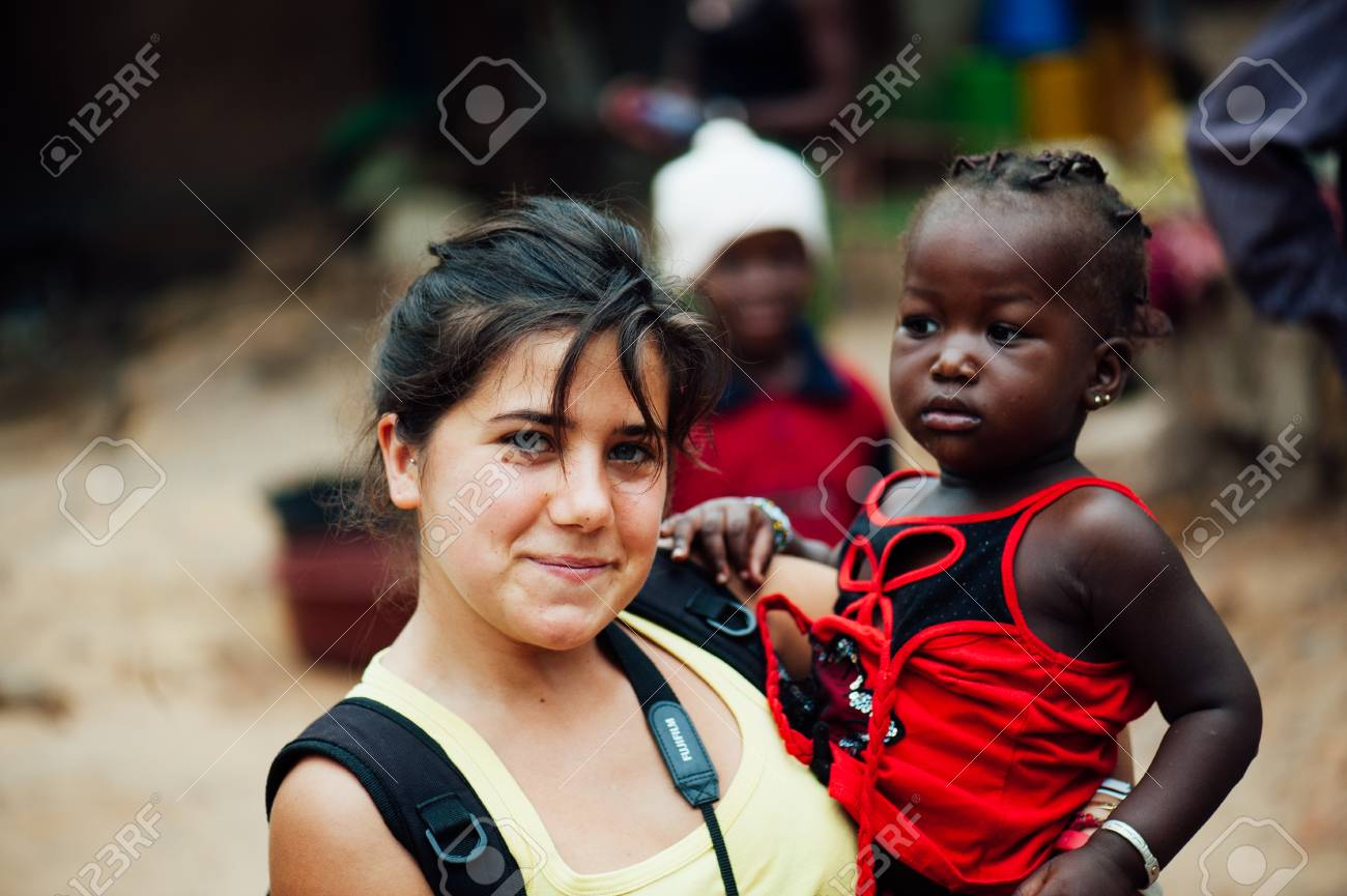 Mali Africa Circa August 2009 White Caucasian Young Woman Stock Photo Picture And Royalty Free Image Image 111810313
