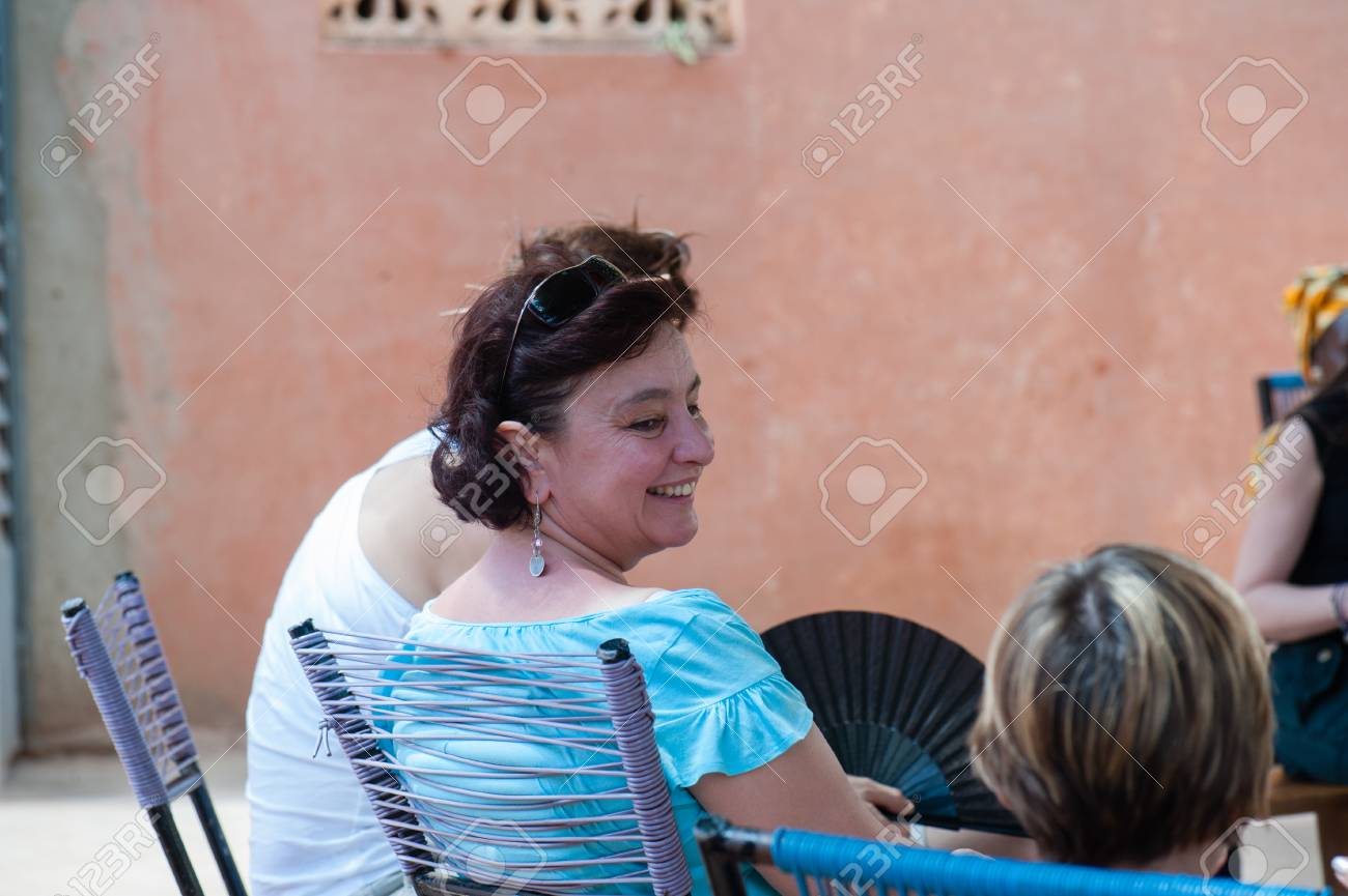 Mali Africa Circa August 2009 White Caucasian Mature Woman Stock Photo Picture And Royalty Free Image Image 111810314