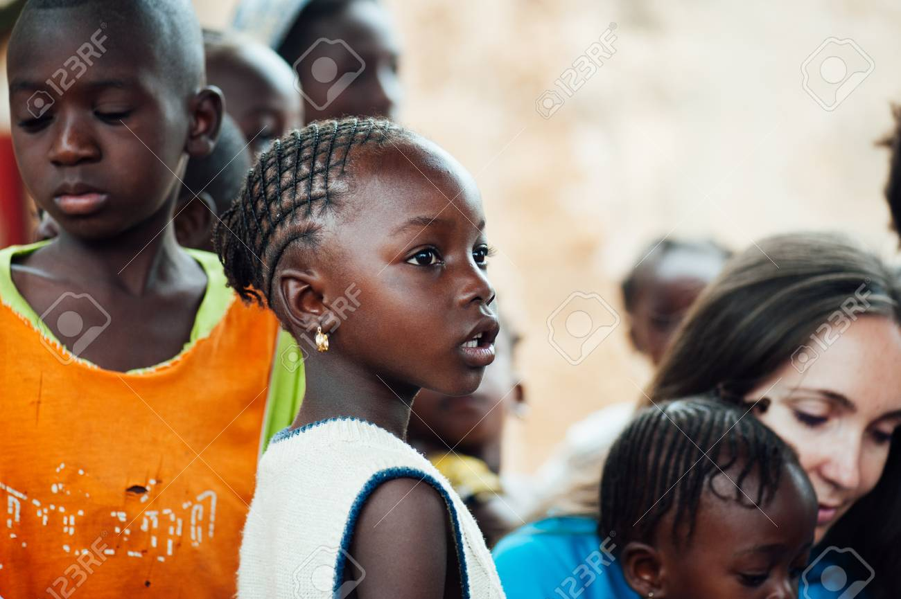 Mali Africa Circa August 2009 White Caucasian Young Woman Stock Photo Picture And Royalty Free Image Image 111810320