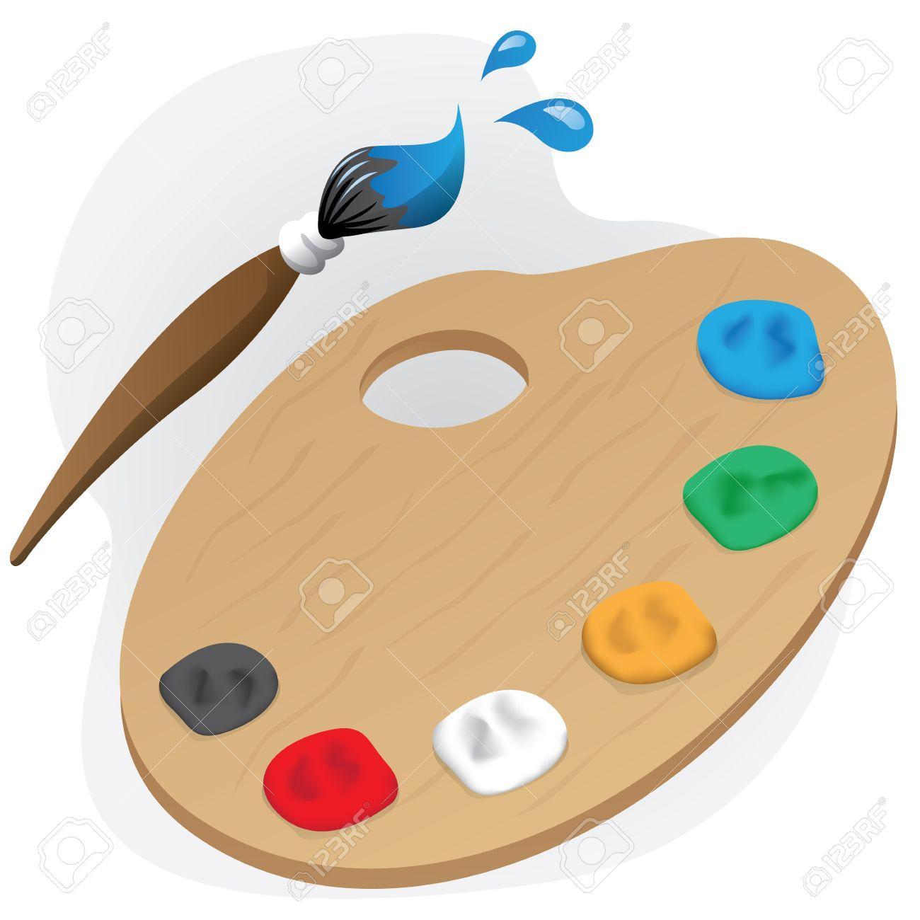 Illustration Est Un Objet De Peinture Palette De Matériaux De