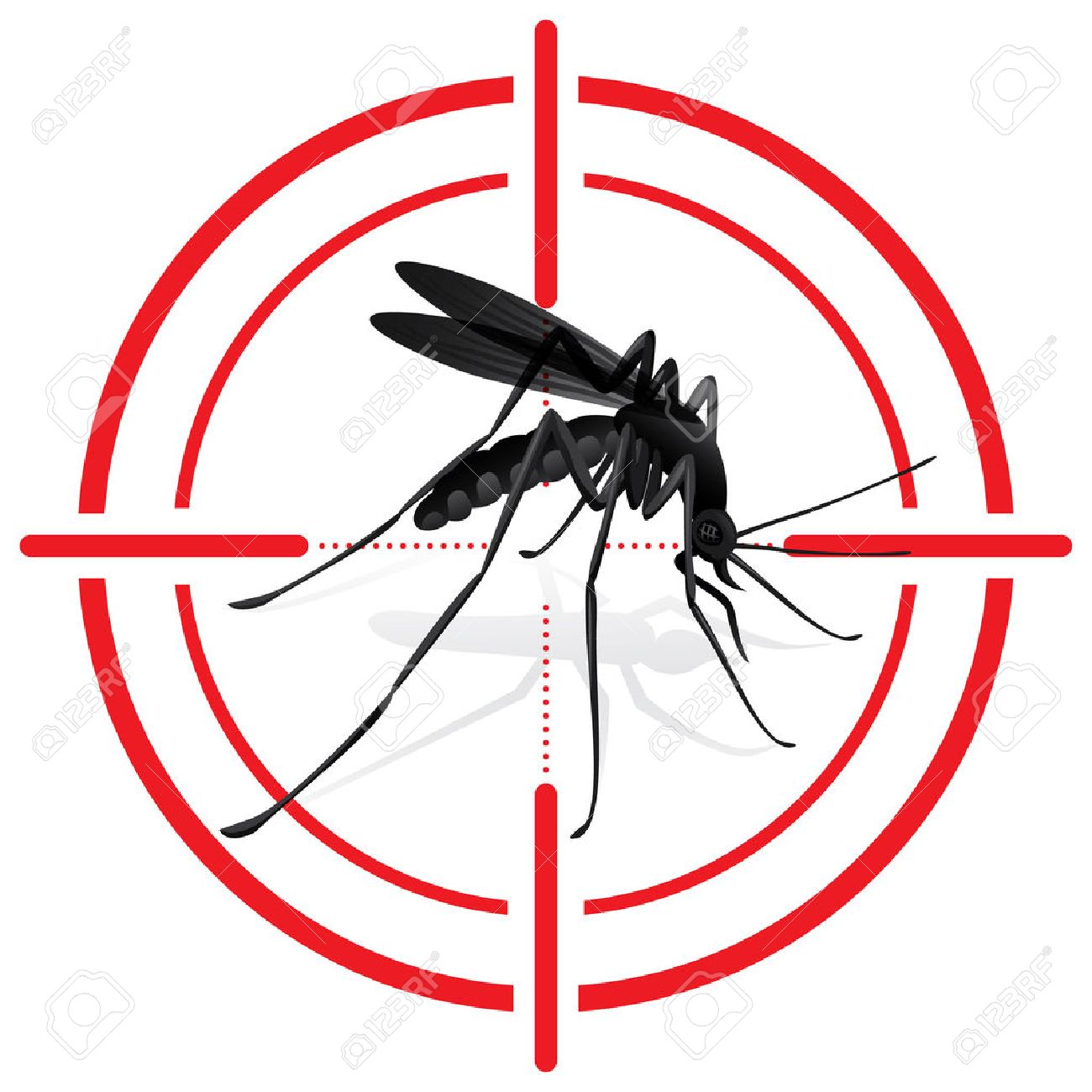Signaling, mosquitoes with Mosquito target. sights signal. Ideal for informational and institutional sanitation and related care - 50040529