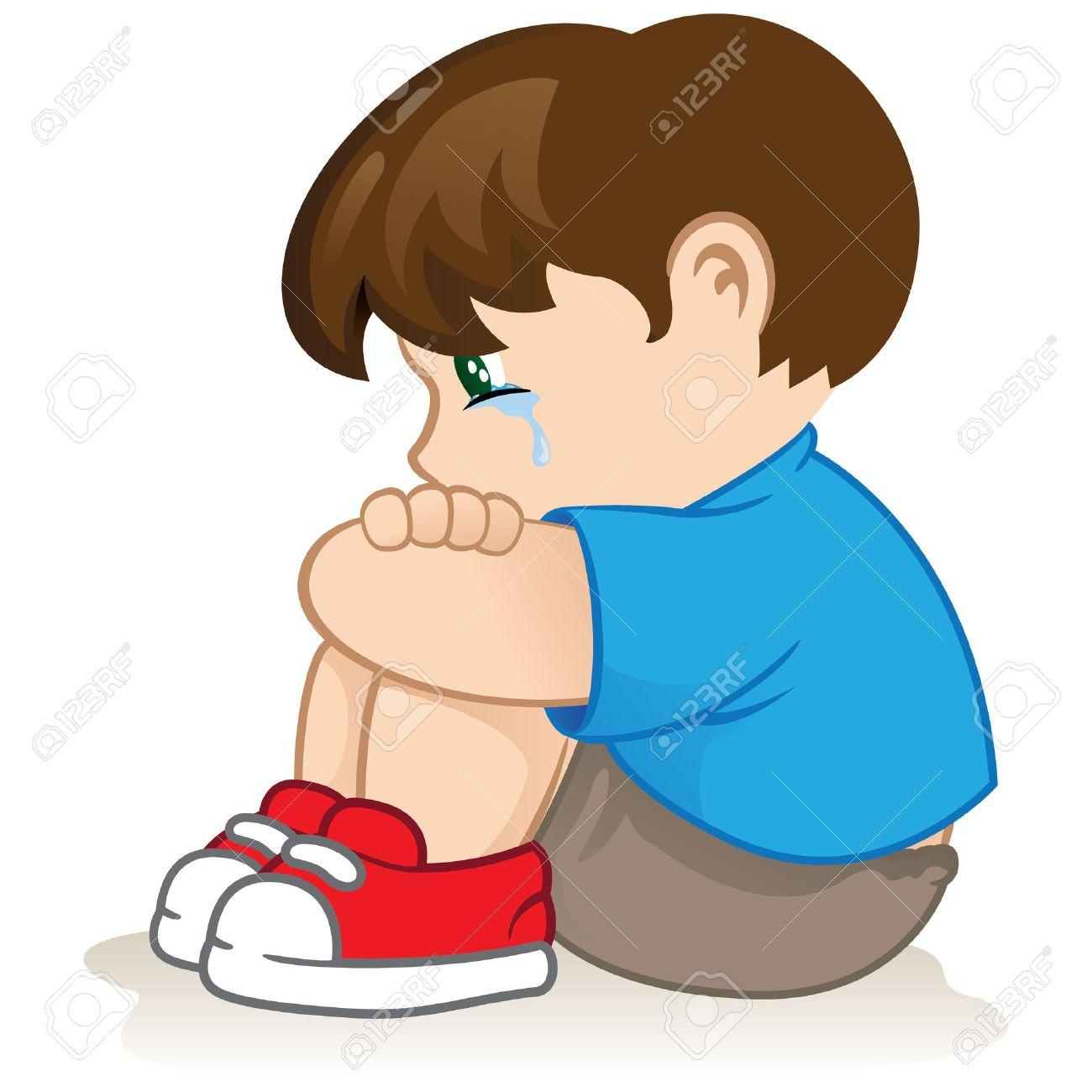 悲しい子は無力ないじめのイラストカタログ情報制度的材料に最適の