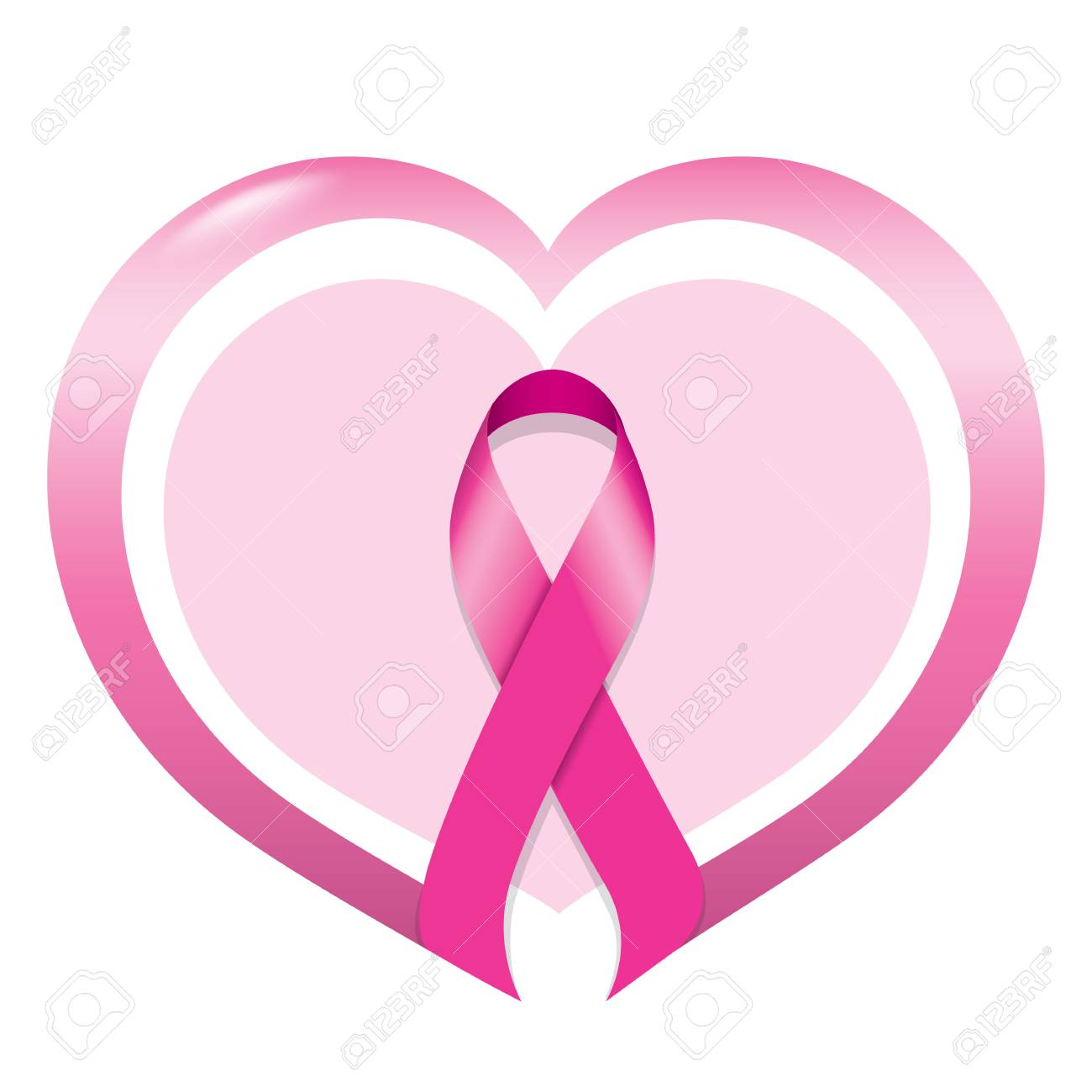 a71fe38829d Icon symbol of struggle and awareness against breast cancer,..