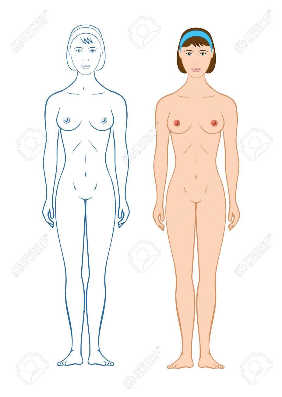 Weiblicher Körper-Silhouette Frau Lizenzfrei Nutzbare Vektorgrafiken ...