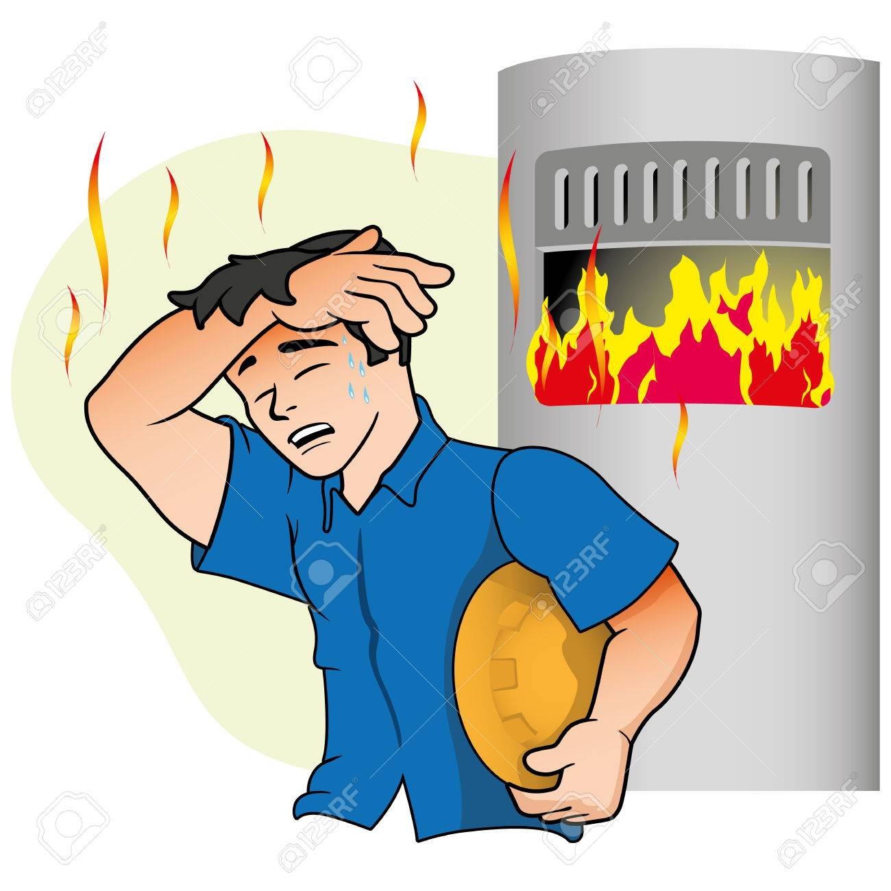 Caucasian Male Mascot Showing Symptoms Of Heat Near The Oven Royalty Free Cliparts Vectors And Stock Illustration Image 74114740 Keep in mind that social media outlets frequently update the design of their interfaces and image sizes are subject to change. 123rf