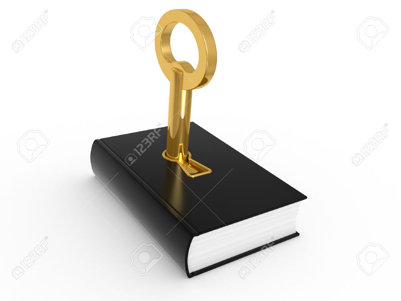 Key to knowledge, book isolated on a white background Stock Photo - 6967773