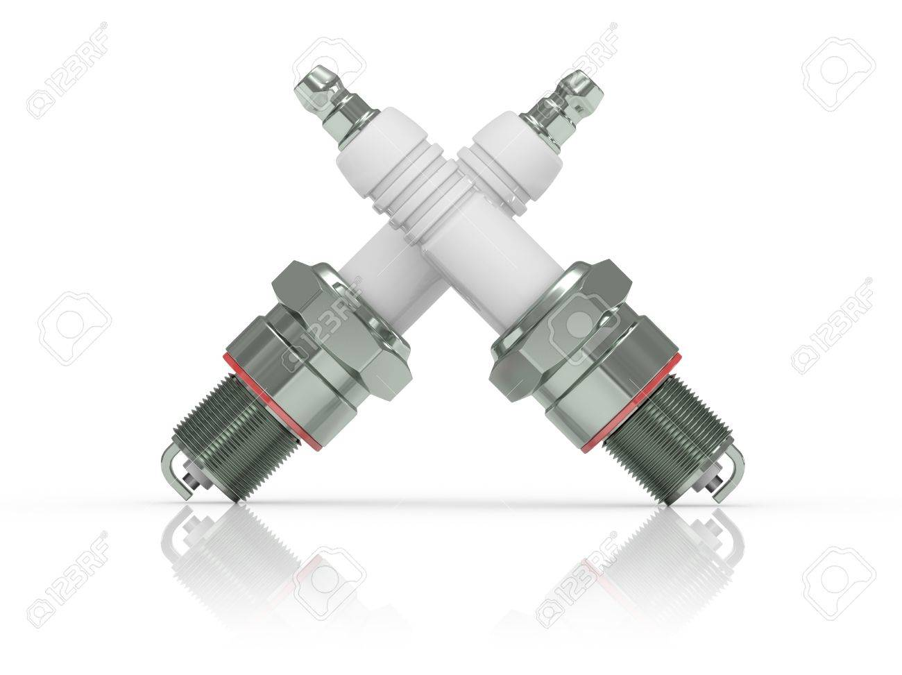 3d illustration. Spark Plug on white background. Stock Photo - 7788007