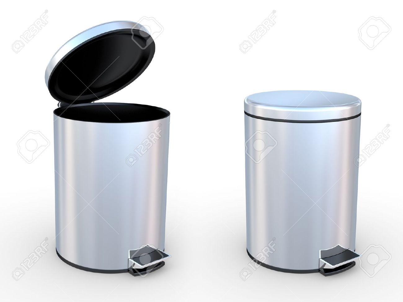 modern refuse bin on a white background stock photo picture and  - modern refuse bin on a white background stock photo