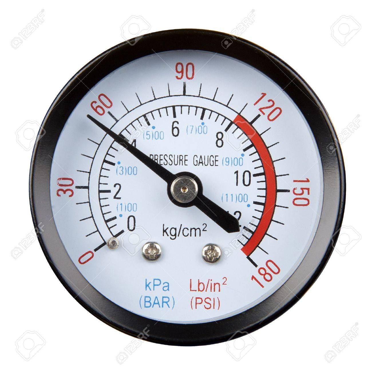 pressure gauge isolated on a white background - 14197138