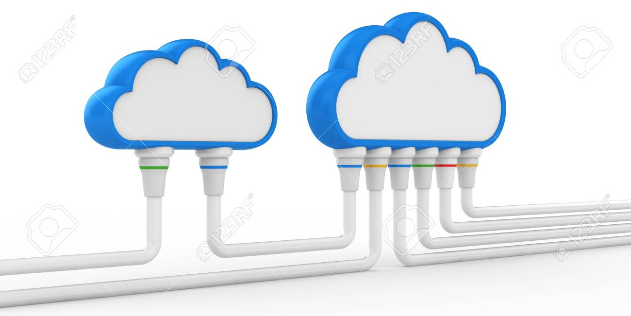 cloud and communications  3d illustration on a white background Stock Photo - 15969445