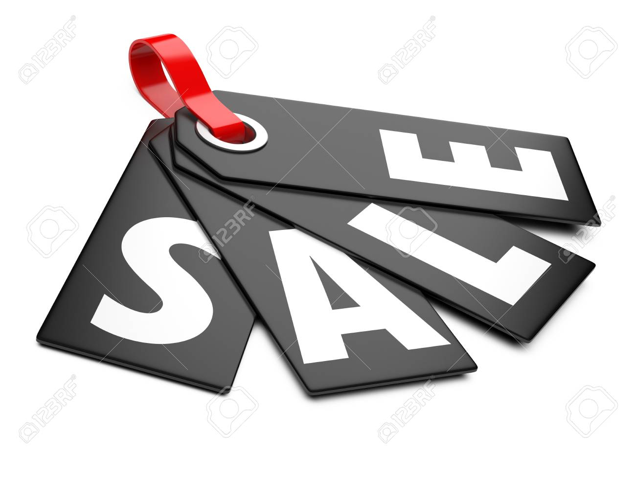 3d Sale tags, on white background Stock Photo - 21615949