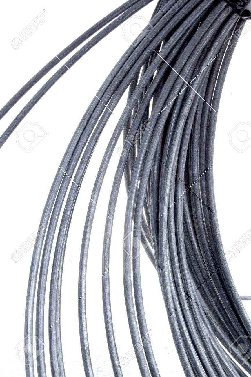 An Abstract Studio Shot Of A Coil Of Unravelling Thick Metal.. Stock ...