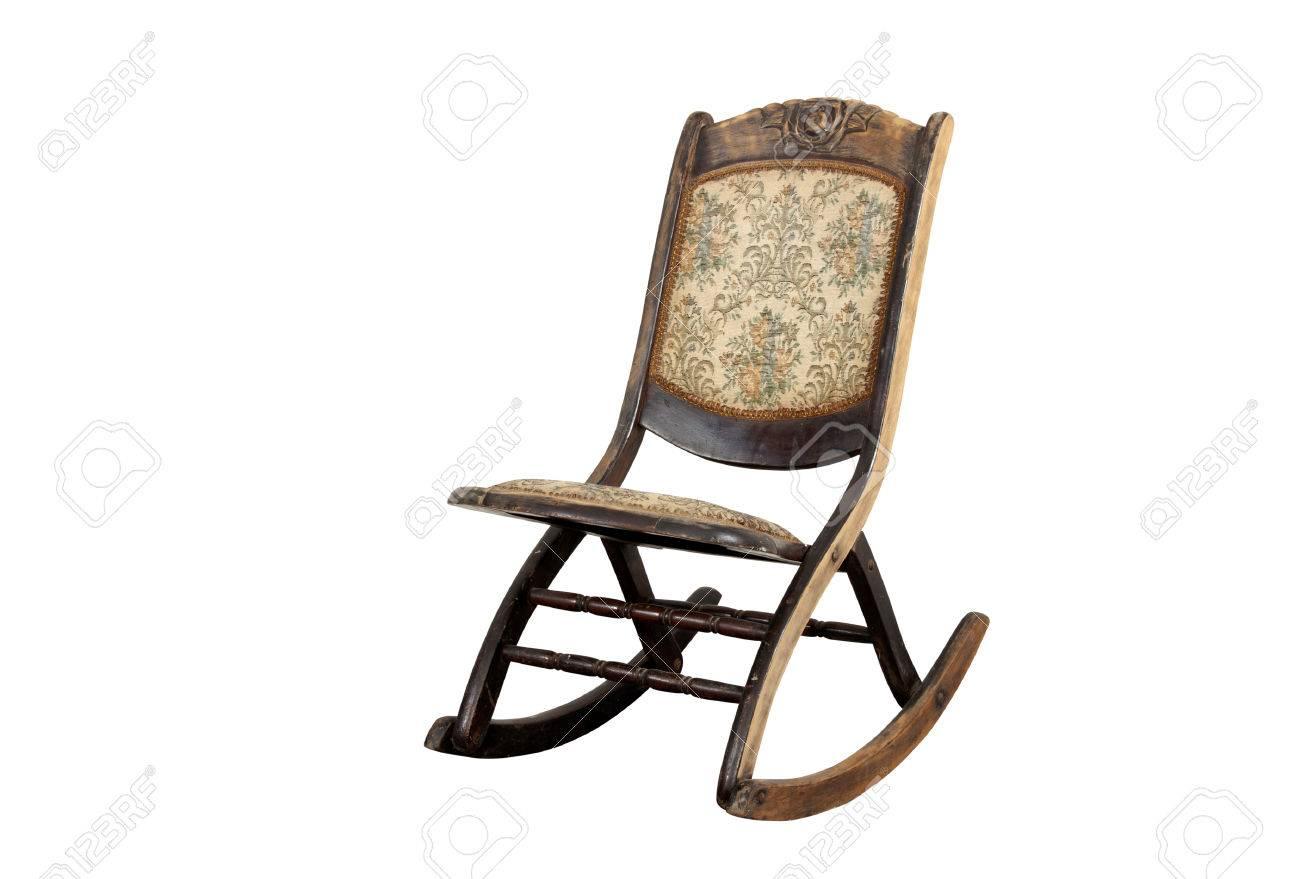 Vintage Schaukelstuhl vintage schaukelstuhl mit kunstvollen sitz- und rückenpolster