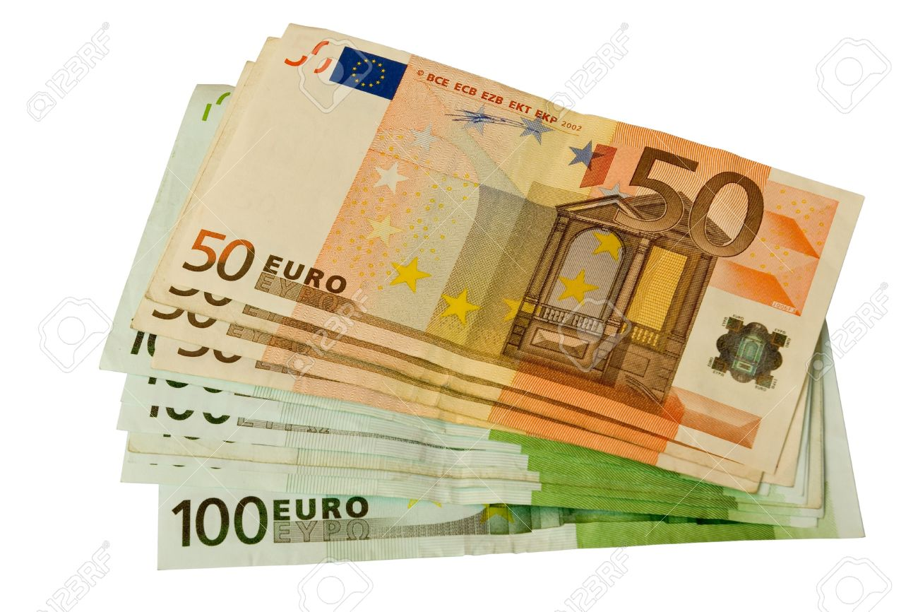 50 And 100 Euro Bills Stacked Stock Photo, Picture And Royalty Free Image. Image 5950652.
