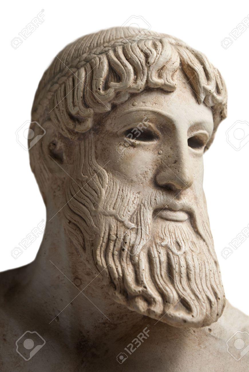 Ancient Greek god Poseidon - god of the sea, horses, and earthquakes. Stock Photo - 7393688