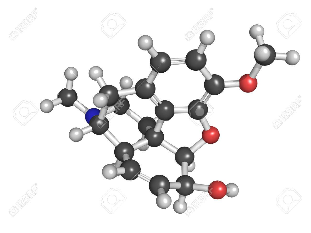 Codeine pain and cough relief drug, chemical structure Stock Photo - 22944345