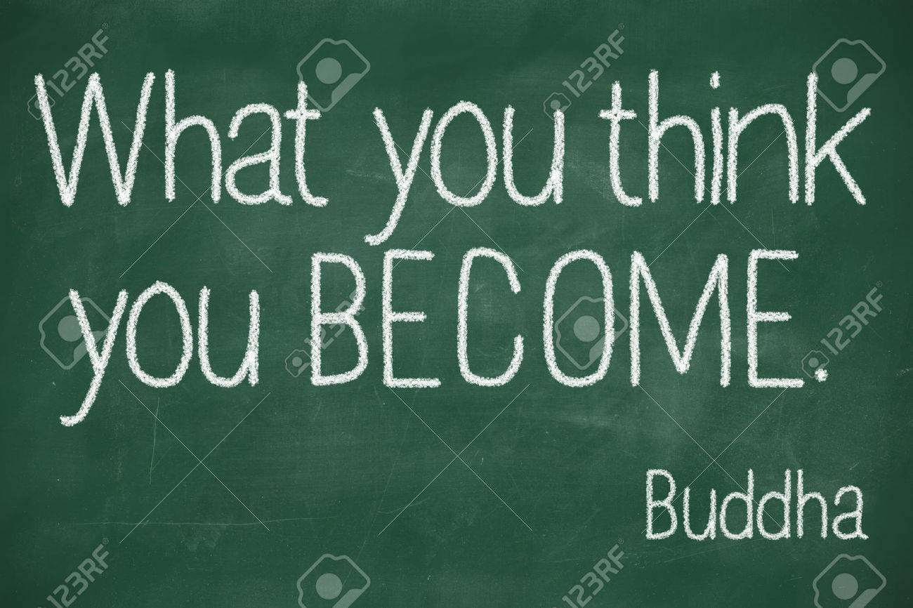 Famous Buddha Quote What You Think You Become Handwritten On