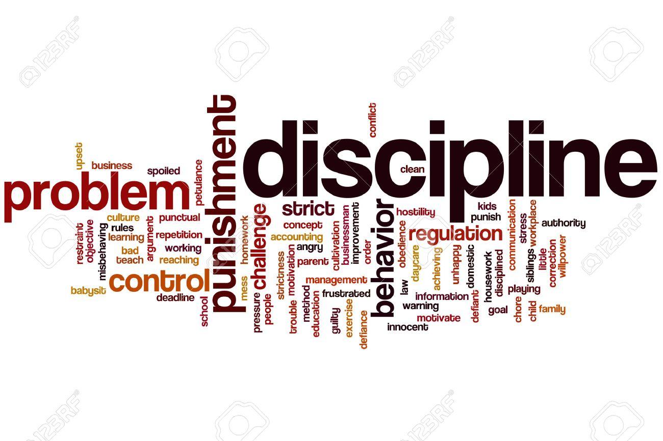 Discipline concept word cloud background - 31230035