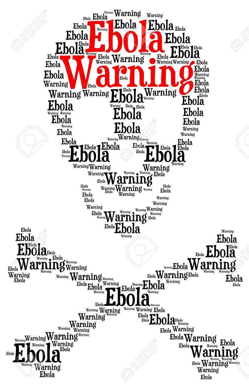 Ebola warning word cloud in a shape of a skull with crossed bones ebola warning word cloud in a shape of a skull with crossed bones as a symbol buycottarizona Choice Image