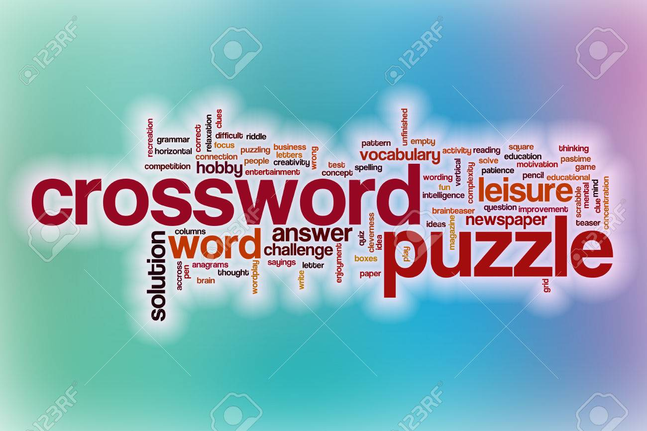 Crossword Puzzle Word Cloud Concept With Abstract Background Stock Photo Picture And Royalty Free Image Image 38911443