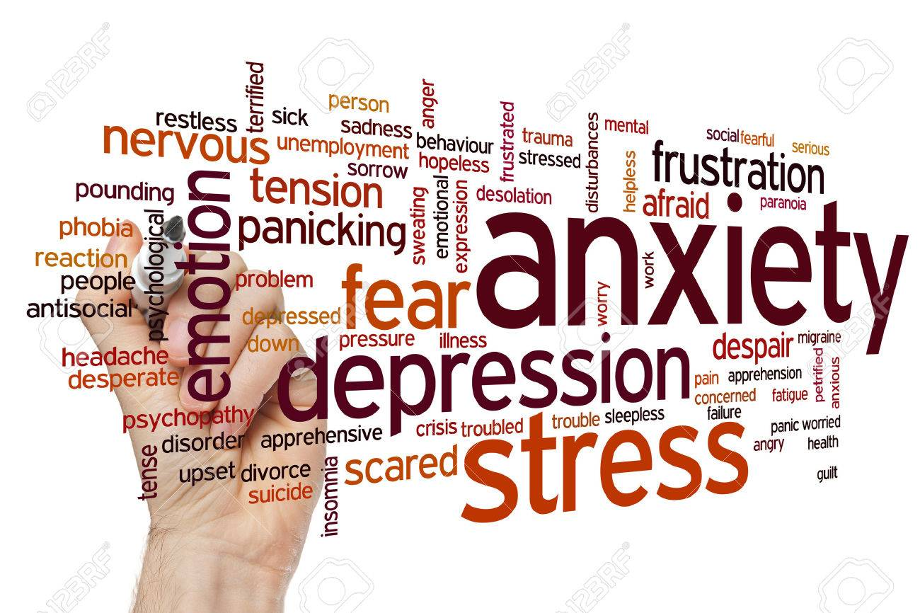 Anxiety concept word cloud background Stock Photo - 42054060