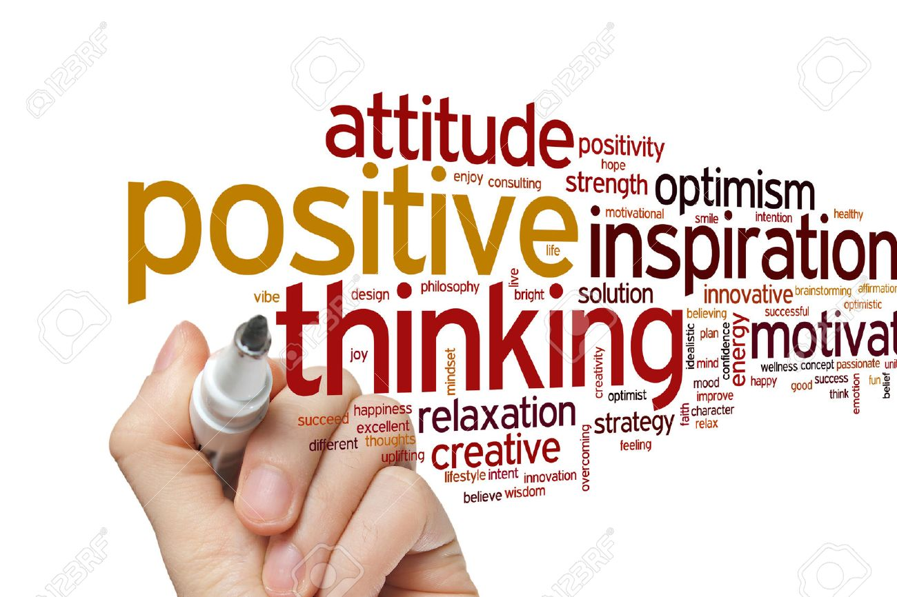 Positive Thinking Concept Word Cloud Background Stock Photo ...