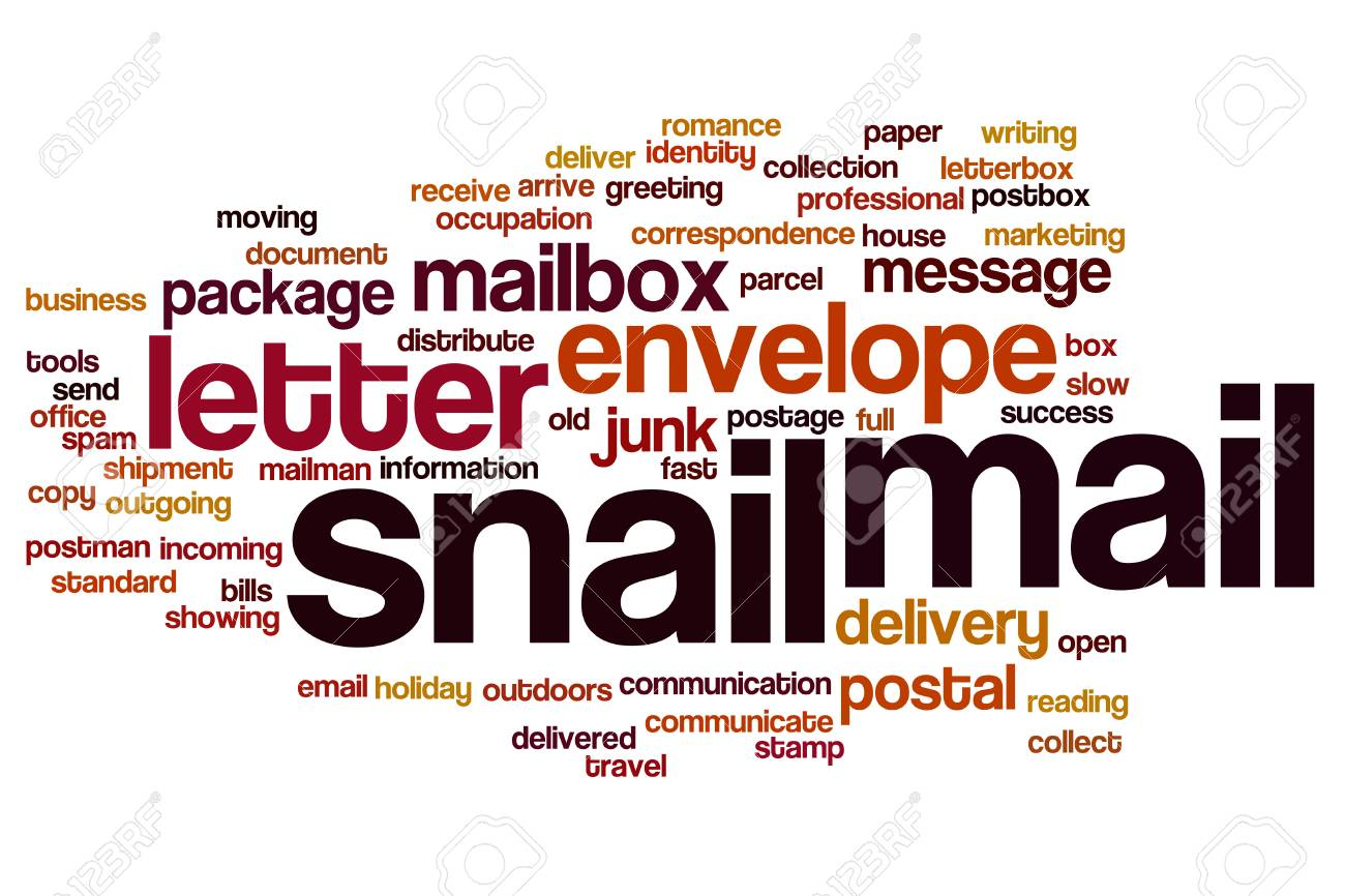 Snail Mail Word Cloud Stock Photo Picture And Royalty Free Image