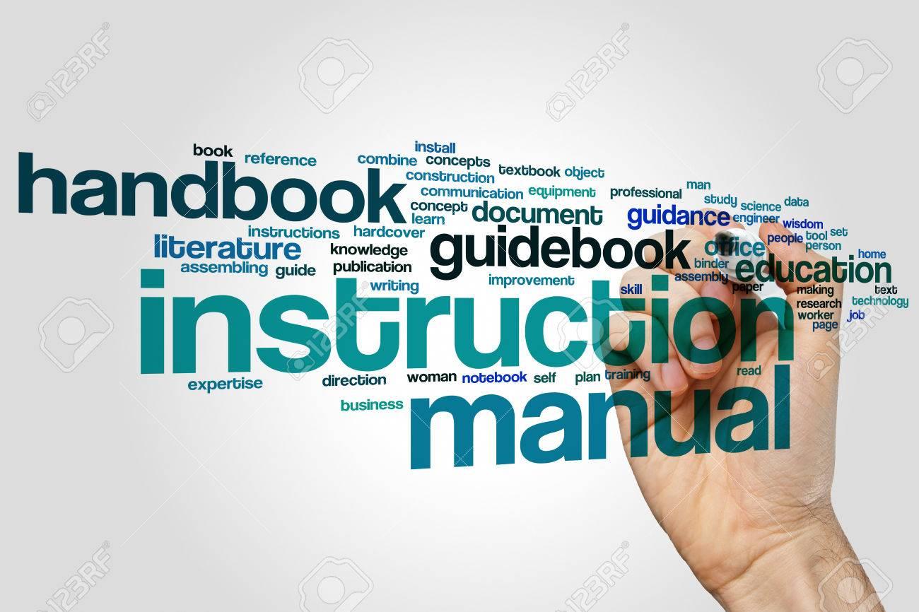 Instruction manual word cloud - 53648112