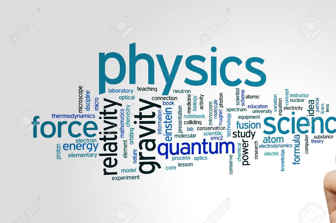 物理学の概念単語雲背景 ロイヤ...