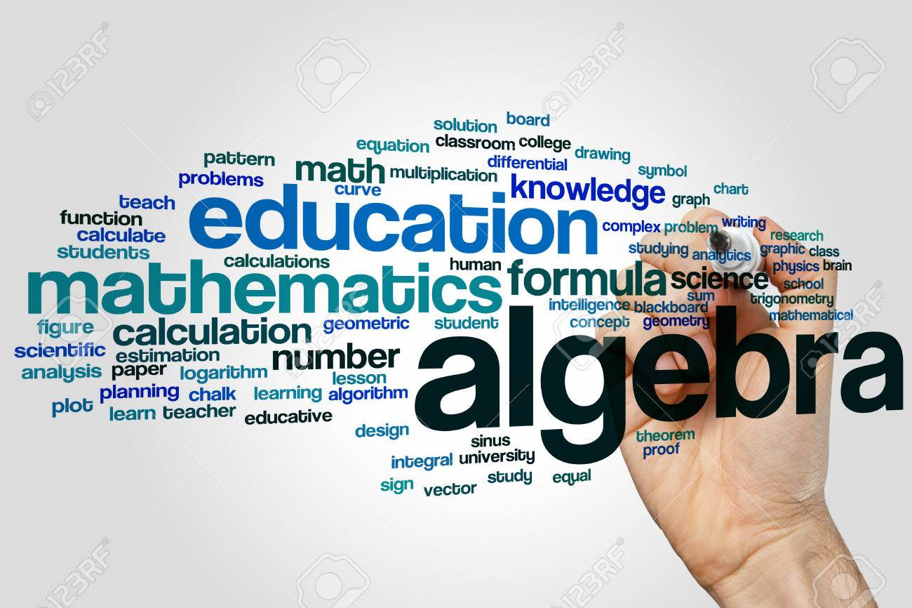 Algebra Word Cloud Concept Stock Photo, Picture And Royalty Free ...