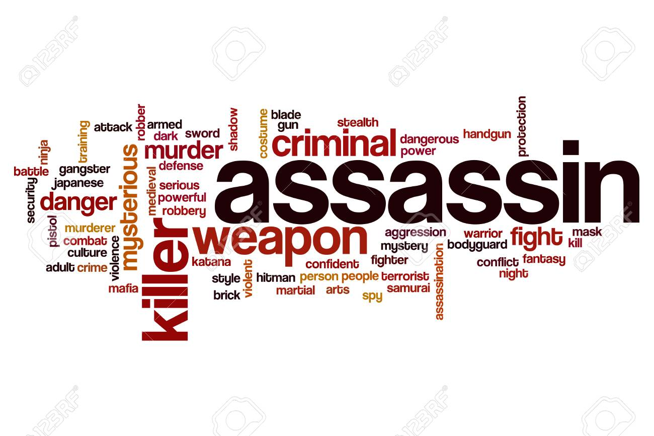 assassin word cloud stock photo 61037408