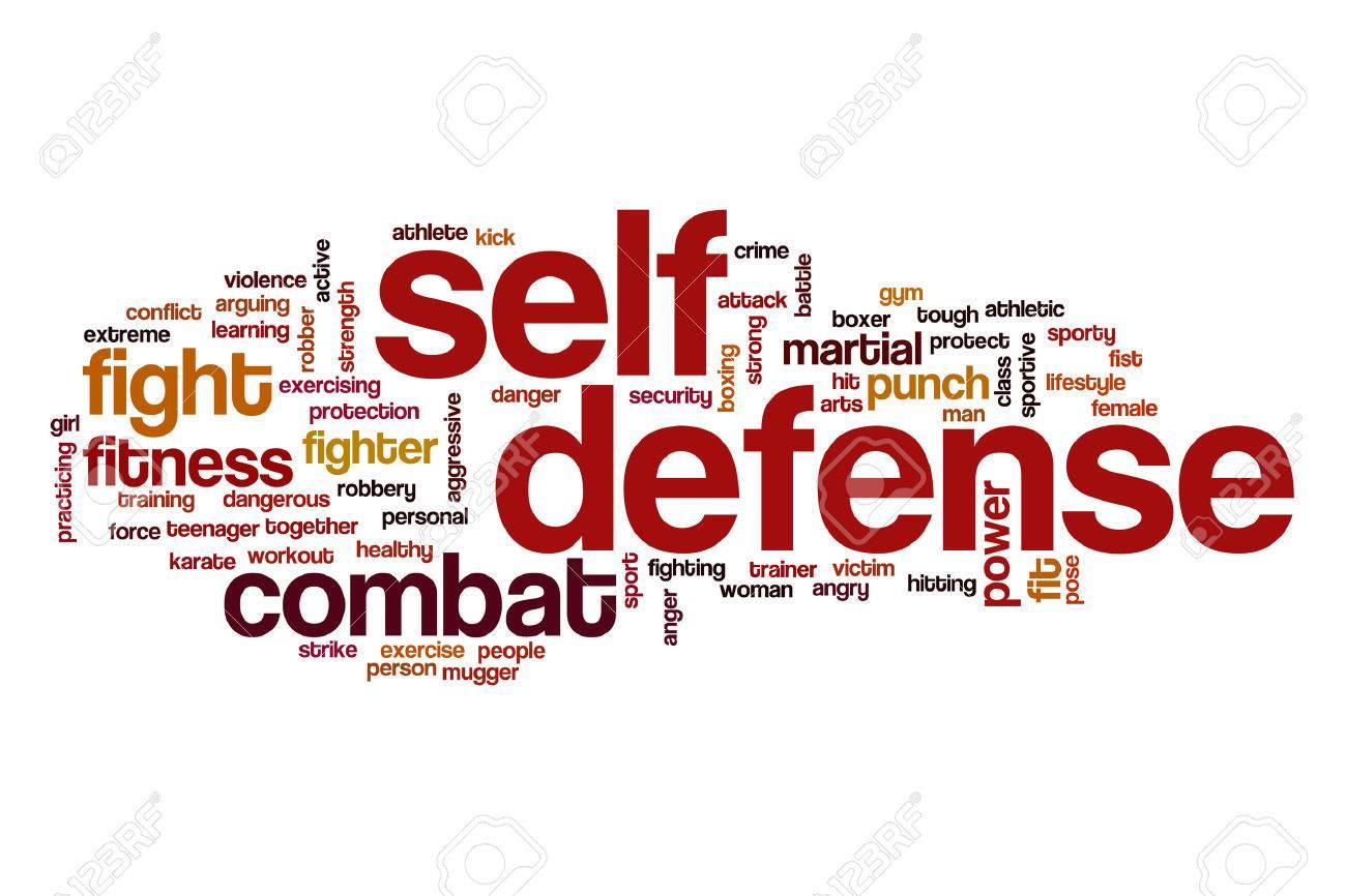 Self defense word cloud concept - 61749937