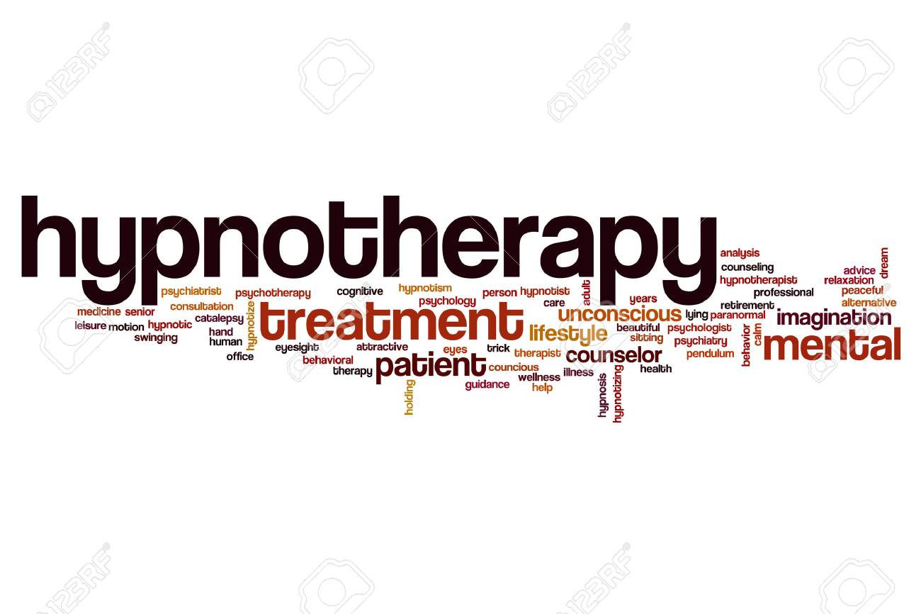 Hypnotherapy Word Cloud Concept Stock Photo, Picture And Royalty ...