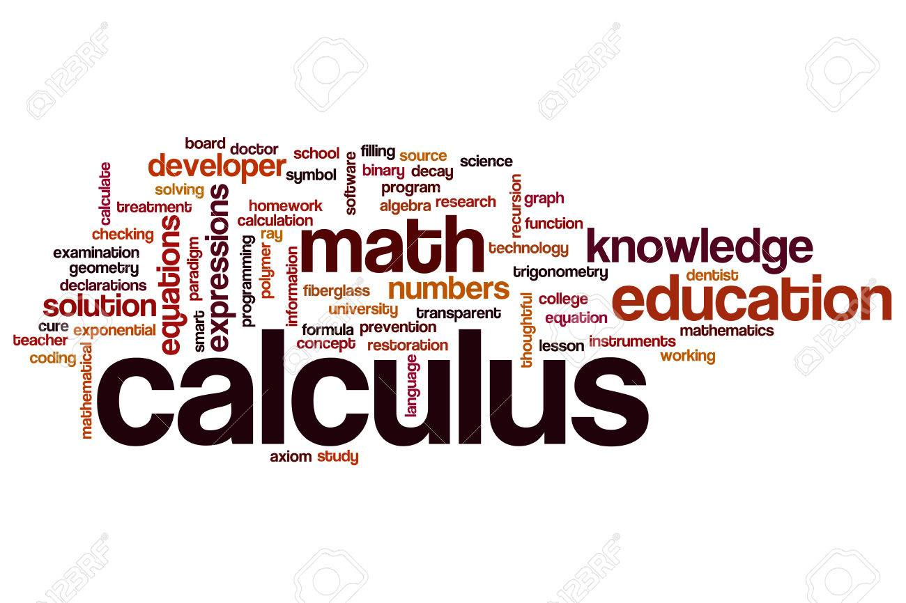 Calculus Word Cloud Concept Stock Photo, Picture And Royalty Free ...