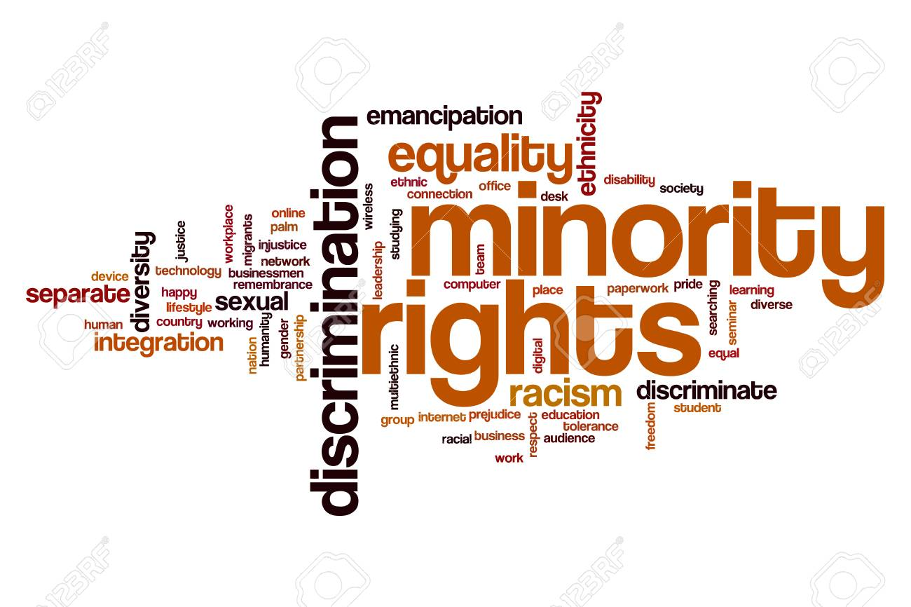 Minority rights word cloud concept Stock Photo - 63910598