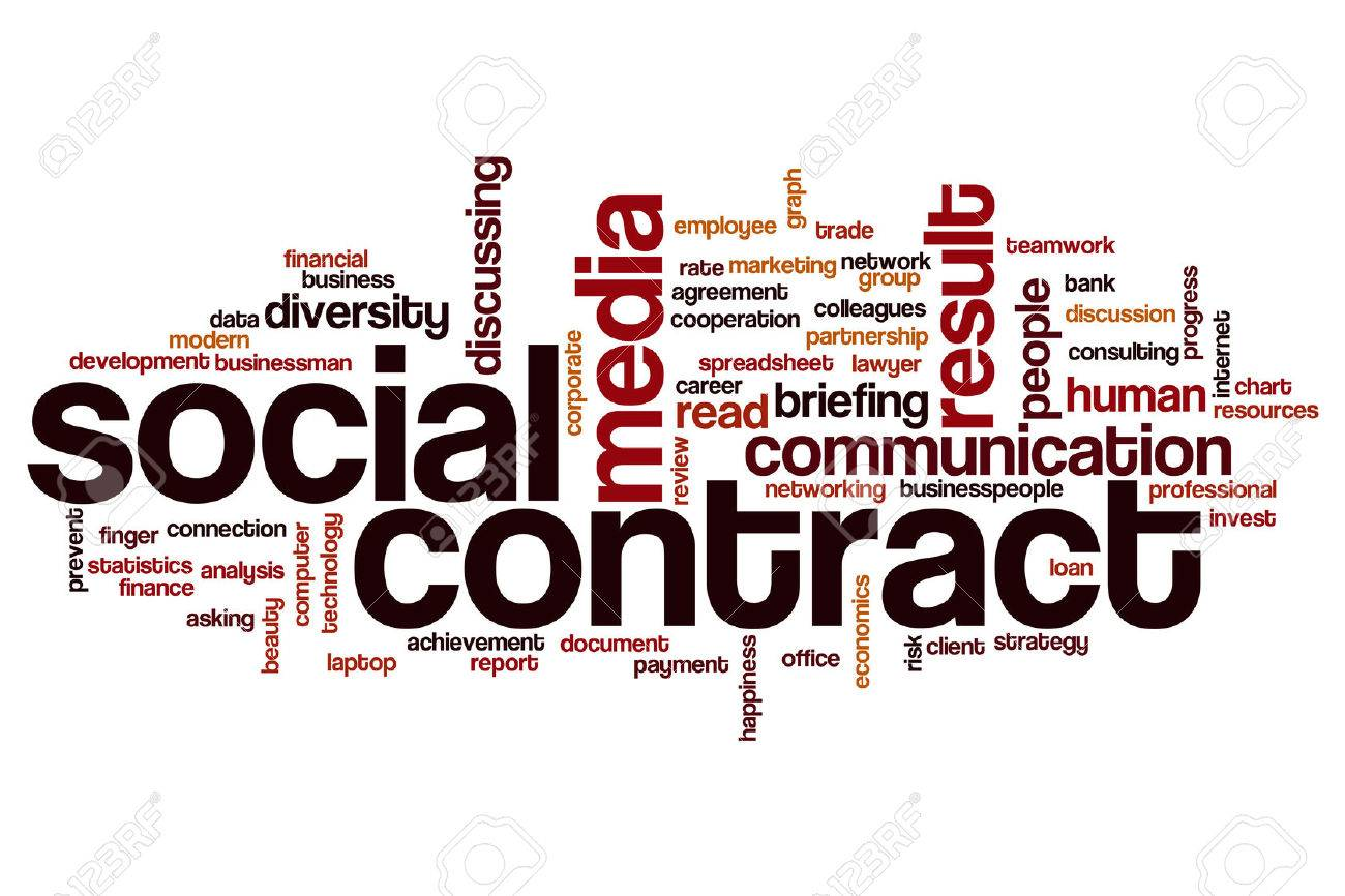 Social Contract Word Cloud Concept Stock Photo   63910797