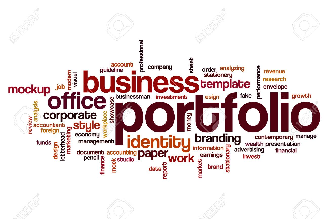 Portfolio Word Cloud Concept Stock Photo, Picture And Royalty Free ...