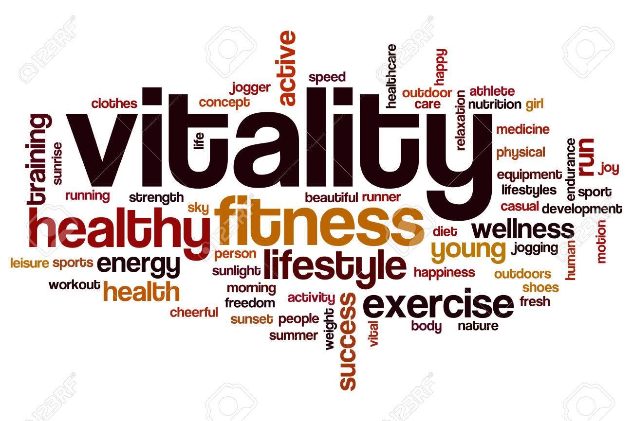 Vitality word cloud concept - 64873713