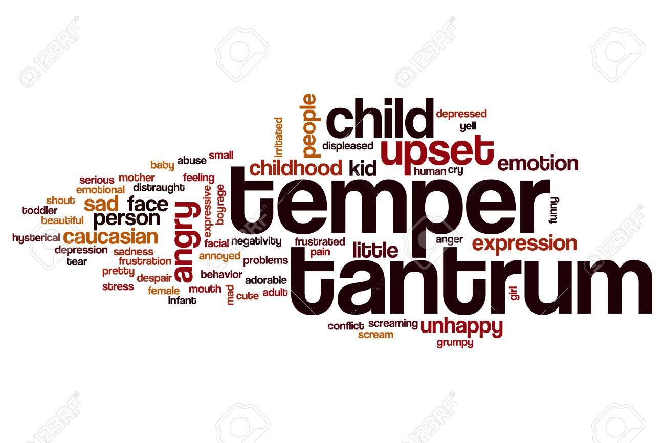 Temper tantrum word cloud concept